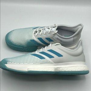 Adidas Parley x SoleCourt Boost White Blue Spirit